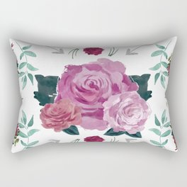 Floral Pattern with Arrows Rectangular Pillow