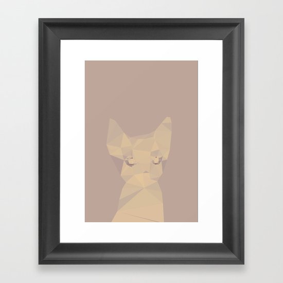 Cut fragments Cat Framed Art Print