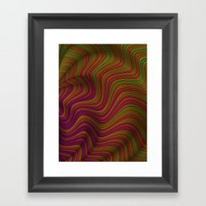 Wavy Waves Framed Art Print