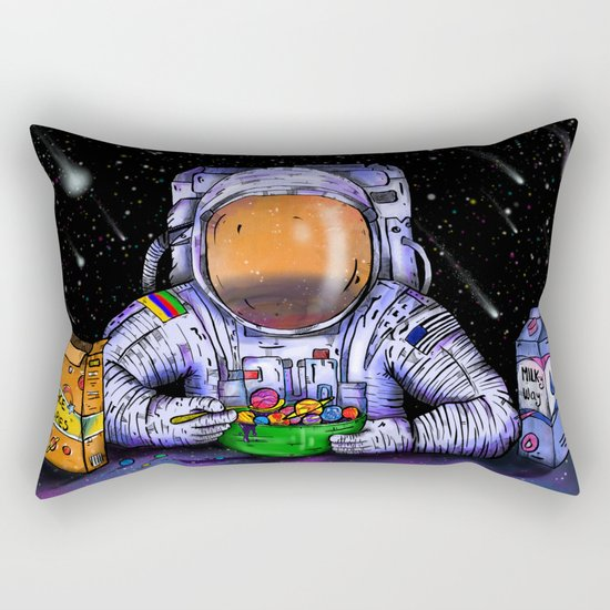Astronaut's Breakfast Rectangular Pillow