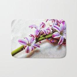Painted Hyacinth Bath Mat