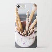 knitting iPhone & iPod Cases featuring Knitting by Josefin Johnsson