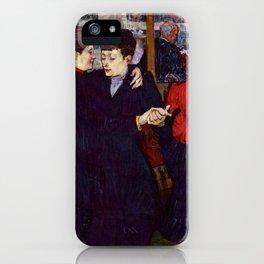 """Henri de Toulouse-Lautrec """"Two Woman Waltzing"""" iPhone Case"""