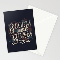 Bloom not Boom Stationery Cards