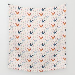 Little Hens (ivory) Wall Tapestry