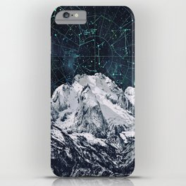 Constellations over the Mountain iPhone Case