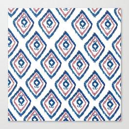 Rugged Royal - aztec watercolour pattern Canvas Print