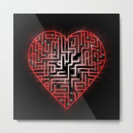 TechHeart (Red) Metal Print