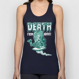 Death From Above (Black) Unisex Tank Top