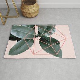 Geometric greenery III Rug