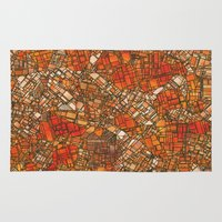 maps Area & Throw Rugs featuring Fantasy City Maps 3 by MehrFarbeimLeben