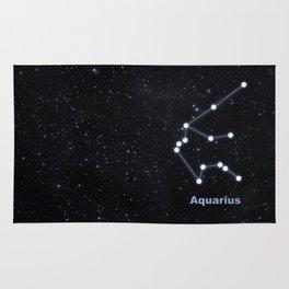 Aquarius star constellation Rug