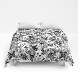 just dogs coral mint Comforters