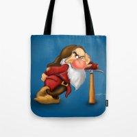 grumpy Tote Bags featuring Grumpy by Ricky_Disneyart