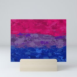 Bisexual Paint Splatter Flag Mini Art Print
