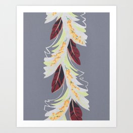 Deco Leaves Art Print