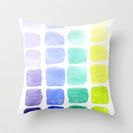 Squared Gradients Throw Pillow