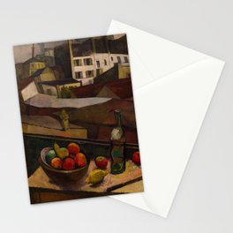 Diego Rivera - Knife and Fruit in Front of the Window Stationery Cards