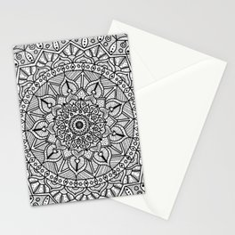 Circle of Life Mandala Black and White Stationery Cards