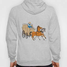 Stagecoach Driver Horse Cartoon Hoody