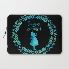 Curiouser and curiouser! Alice in Wonderland. Laptop Sleeve