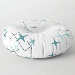 Mid Century Modern Stars (Teal) Floor Pillow