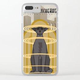 Elektrostatische Katze [Staticat] Clear iPhone Case