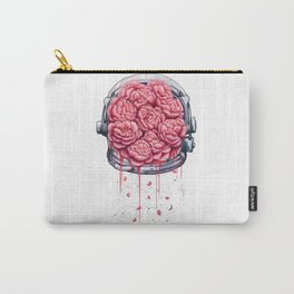 Cosmic peonies on white Carry-All Pouch