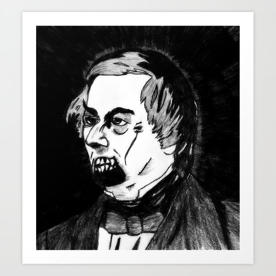 13. Zombie Millard Fillmore  Art Print