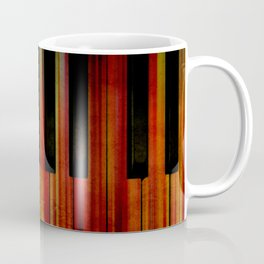 Pianist Feel the Burn Dark Keys Coffee Mug