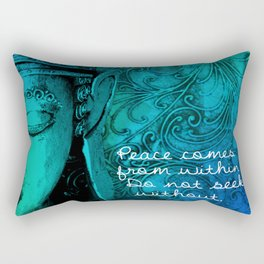 Aqua Buddha Rectangular Pillow