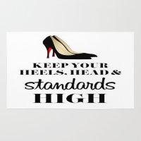 heels Area & Throw Rugs featuring Heels & Standards by LuxuryLivingNYC