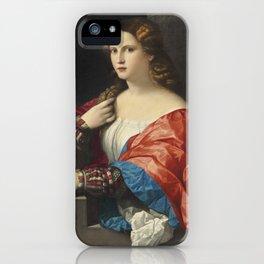 1959 retrato-mujer-joven-llamada-bella iPhone Case