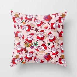 Santa Gift Pattern Throw Pillow