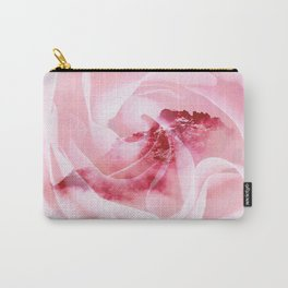 Artistic modern pink rose floral mountain Carry-All Pouch