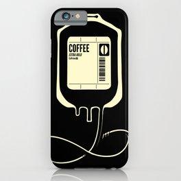 Coffee Transfusion - Black iPhone Case