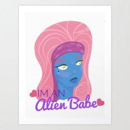 alien babe Art Print