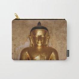 Birma Buddha head gold - Illustration Carry-All Pouch