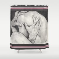 hands Shower Curtains featuring hands... by als3