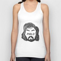 juventus Tank Tops featuring Pirlo B&W by wearwolves
