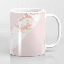 Queen pink - rose gold chevron Coffee Mug