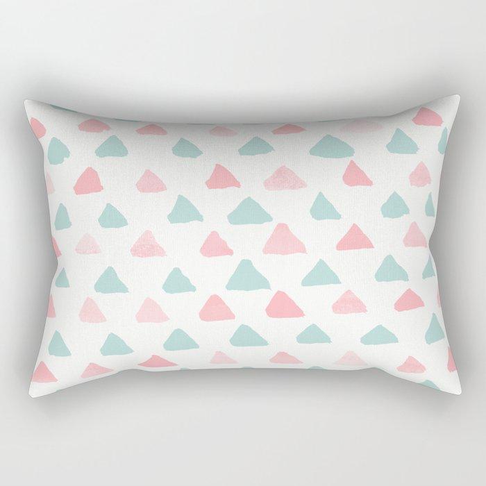 pastel triangles 2 Rectangular Pillow