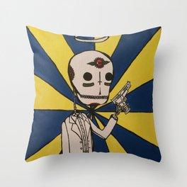 Skeleton Killer Throw Pillow