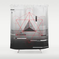 football Shower Curtains featuring sacred football by Dr.Söd