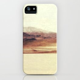 Minimalist Desert Landscape, Large Wall Art iPhone Case