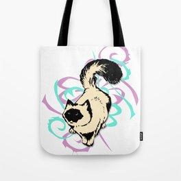 Cat Illustration in Colors Tote Bag
