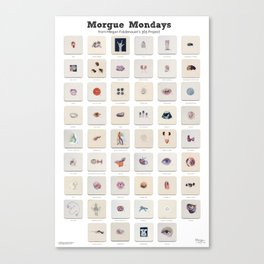 Morgue Mondays: 52 Weeks of Human Body Watercolor Paintings Canvas Print