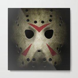Hockey Mask Metal Print