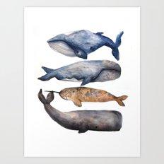 Whales // Fashion Illustration Art Print