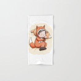 Boy Sleeping Wearing Fox Pajamas Hand & Bath Towel